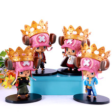 Kawaii Cartoon Anime One Piece Z Tony Tony Chopper with Crown PVC Action Figures Collection Model Kids Toys Doll 12CM 4pcs/set(China)