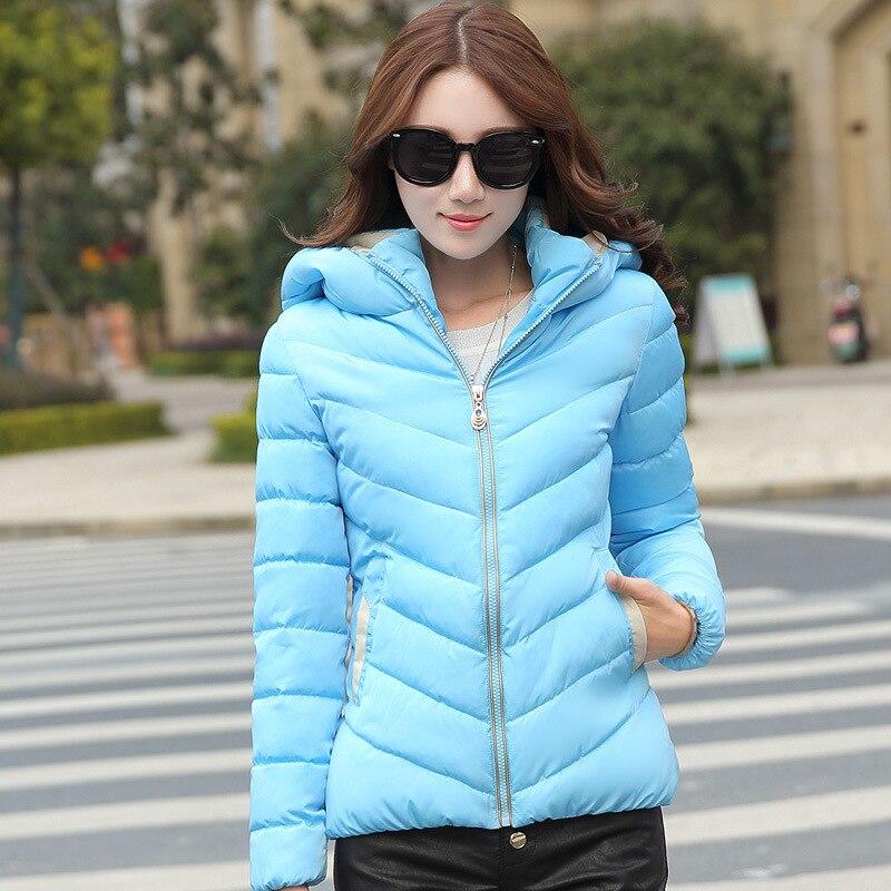 Down Padded Cotton Jacket Women Fall/Winter Womens Wear Korean Short Slim Hooded Size Lightweight Down Jacket Down Coat MT090Одежда и ак�е��уары<br><br><br>Aliexpress