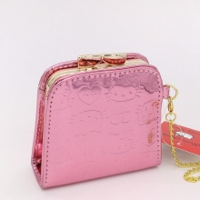 Fashion Cute coin purse Hello Kitty baby Wallet Cartoon Women Change Purse High quality PU pink hasp mini purse
