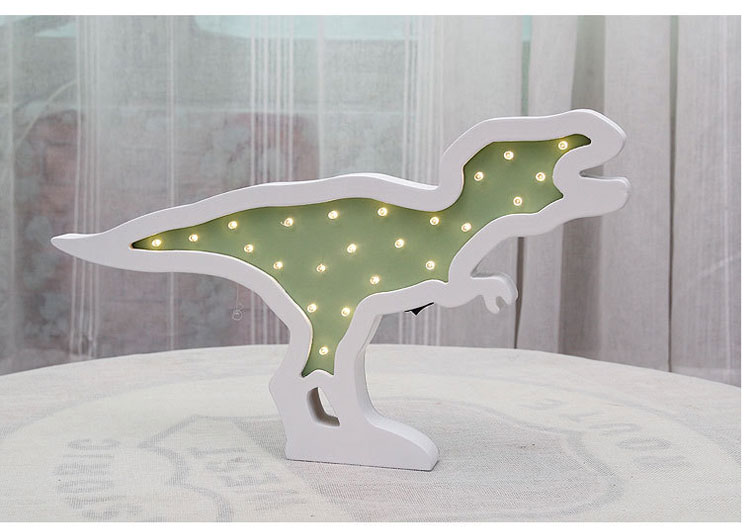 Wood Dinosaur LED Night Lamp