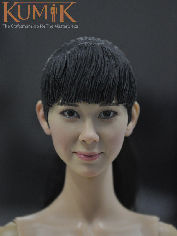 KUMIK TOYS 1/6  Asia Girl Black Long Hair Female Head Sculpts No.15-25 CY GG Model Toys For 12 Female Action Figure Accessory<br><br>Aliexpress