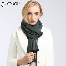 lovers scarves women high fashion 2017 winter green ladies scarves twill ponchos capes warm women long women's knit wool scarf(China)