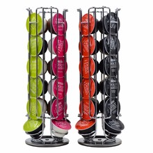 High quanlity Solutions Revolving Rotating 24 Capsule Coffee Pod Holder Tower Stand Rack For Dolce Gusto(China)