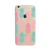 For iPhone case pineapple Summer Fruit Series Transparent TPU scratch-proof cases for iPhone 7 7plus 6 6S 5 5S SE 6plus 6splus