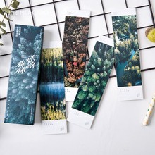 30pcs/pack Forest Bookmark Paper Bookmarkers Promotional Gift Stationery Film Bookmarks For Books Book Markers(China)