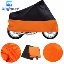 Mofaner Motorcycle Waterproof Outdoor Dust Rain Cover Protector For Harley-Davidson 1200 Custom XXL Scooter ATV Motorbike Covers