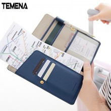 8 Colors Large Capacity Travel ID&Document Holder Utility Pu Leather Passport Cover Bierta Del Pasaporte APH107A(China)