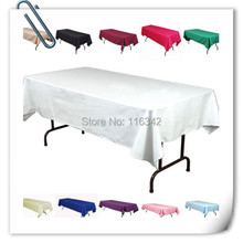 Big Discount ! Many colors 10pcs 150*320cm Rectangle table cloth 180GSM For Wedding &Hotel & Banquet Free shipping MARIOUS