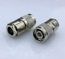 TNC male RF coaxial connector for 50-5 RG5 RG6 LMR300 RG304 cable TNC connector 1pcs(China)
