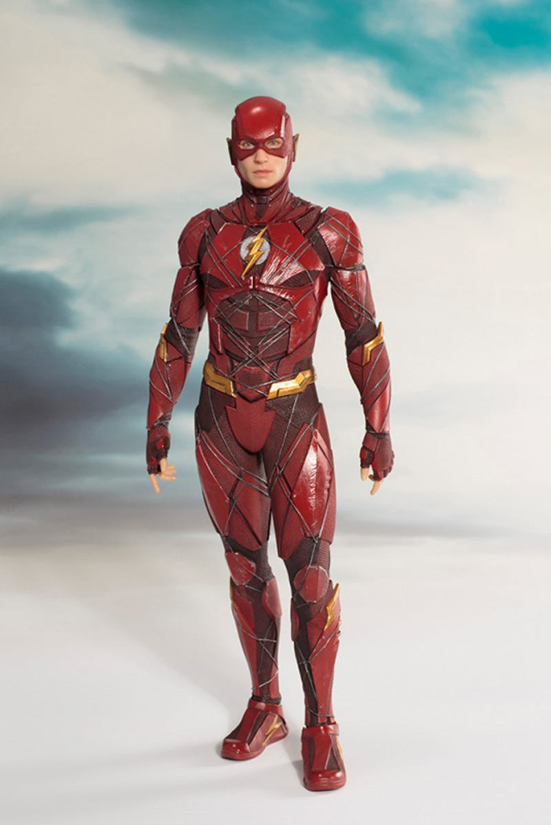 DC Justice League The Flash Cyborg Wonder Woman Batman Superman Statue ARTFX Action Figures Collection Model Toy Doll (6)