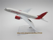 15cm Alloy Metal White Air Colombia Avianca Boeing 787 B787 Airlines Plane Model Airways Airplane Model Aircraft Mode(China)