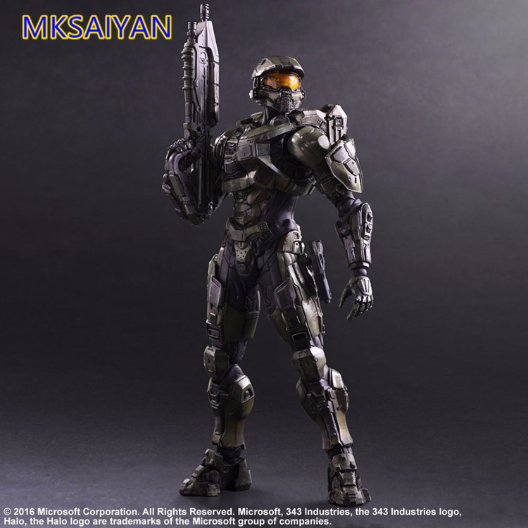 Halo PA Play Arts Kai Master Chief PVC Action Figure Halo John Anime Hot Collectible Model Doll 26cm Gift XM