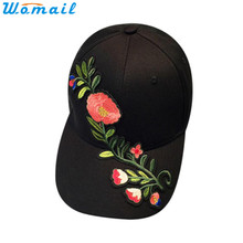 Womail Good Deal  Women Men Most Popular Couple Applique Floral Baseball Cap Unisex Snapback Hip Hop Flat Hat 1PC*30