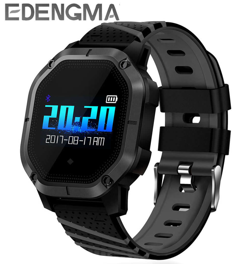 EDENGMA smart wristband K5 1.0 inch screen blood oxygen monitoring blood pressure monitoring anti-lost remind IP68 waterproof