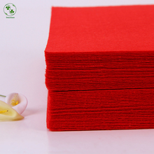 Red Color DIY Fabric Felt Sheet 30X30CM Pure Colour 1mm Thick Plain Felt Pack DIY Craft Sewing Squares Nonwoven Patchwork(China)