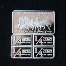 [Hot Sale]Wholesale 100Pcs/Lot  stagecoach Silver bullion Bar 1 Ounce Solid Silver bar,carriage American Silver coin