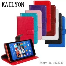 Buy KAILYON New High Luxury Leather Flip Case sony xperia z3 compact Cover Wallet Phones Cases sony z3 compact Z3 mini M55W for $4.39 in AliExpress store