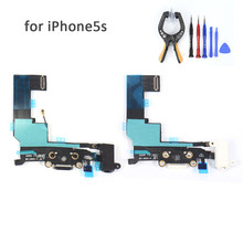 For iPhone 5S Tail Plug Flex Cable Replacement Audio Flex Cable Earphone Flex Cable Charging for iphone 5s Repair Spare parts(China)