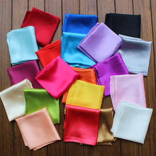 Wholesale Luxury Brand Mini 60*60CM Square Silk Feeling Solid Scarves Women Great Quality Spring Neck Scarf Ladies Fashion Scarf