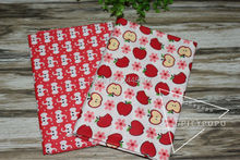 2 Pieces 50x160cm red apple and elephant Cotton Fabric Sewing Cloth DIY Patchwork Tissue Textile