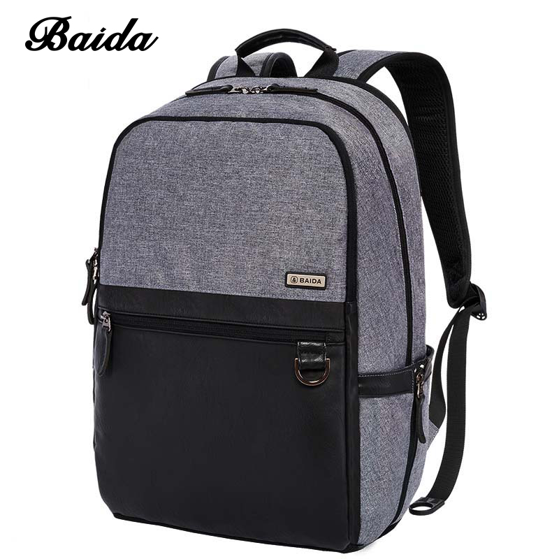 Mochilas New 2016 Business Unisex Backpack With High Quality British Wind Style Workplace Essential Modern Backbag With Leather<br><br>Aliexpress
