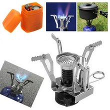 1 PC Portable BBQ Stove Ultralight Backpacking Gas Butane Propane Canister Outdoor Camp Stove Burner(China)