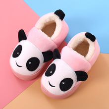 Children Slippers Girls Boys Baby Home Shoes Winter Indoor Warm Cotton Cartoon Panda Kids Slippers Baby Toddler shoes(China)