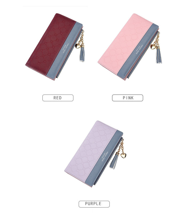 2018 Fashion Ladies Wallet Female Short Zipper Coin Purse Small Wallets Young Womens Tassel Hasp Purses Button Card Holder Pouch 96