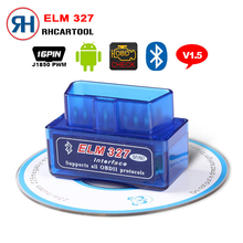 2017 Hot Sell Mini ELM327 Auto Scanner ELM 327 Bluetooth OBD2 for Android Torque OBDII Car V1.5 Vehicle Scan Diagnostic Tool