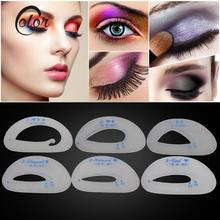 6Pcs/pack Eyebrow Stencils Eyeshadow Shaper Models Templates Eyeshadow Card Guide Women Eye Makeup Stencil Beauty Make Up Tool