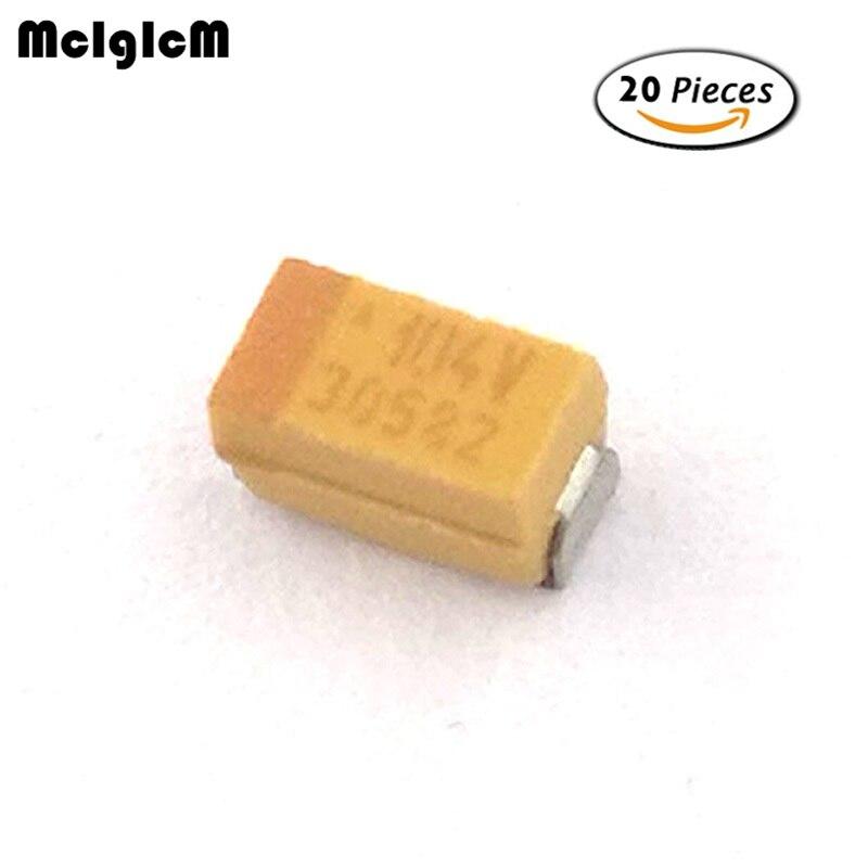 m2001 10 unidades SMD tantalio condensadores 0,1 µf//35 V-forma compacta a