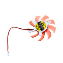 Computer Graphics Cards Cooler Fan Colorful 75MM 12V 0.18A Replacements For 9800GT9600GT Graphics Cards Fans Red Color P20(China)