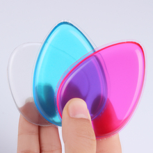 1Pc Jelly Powder Puff Waterdrop Silicone Gel Sponge Clear Pink Blue For Lady Face Foundation BB Cream Cosmetic Makeup Tool(China)