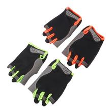 Buy 2 Sizes Cycling Gloves Half Finger Polyester Breathable Sport Bike Gloves Summer Outdoor MTB Gel Fitness Bicycle Gloves for $2.37 in AliExpress store