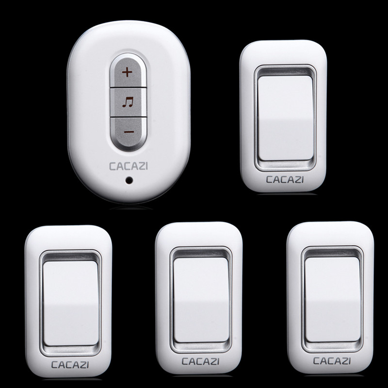 4 transmitter+1 receivers Wireless Doorbell Waterproof AC 110/220V Door Bell 6 volume 48 ringtones  Range 300m<br><br>Aliexpress