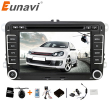 Eunavi 2 din 7 inch Car DVD player Car Radio GPS for VW GOLF POLO JETTA TOURAN MK5 MK6 PASSAT B6 with stereo,bluetooth,swc,FM/AM(China)