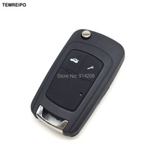 TEMREIPO 2 Buttons Key Shell For Chevy Chevrolet Spark Epica Lova Car Flip Remote Key Blank Remote Control Case fob