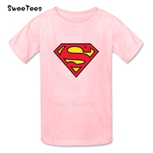 Boy Girl T Shirt Baby Clothes 2017 Superman Logo Infant Cotton Tshirt Crew Neck Kid Children T-shirt For Toddler