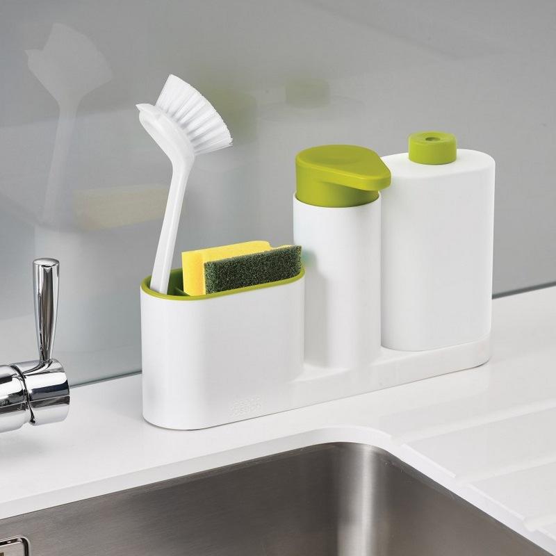 ASFULL Multifunctional Washing Sponge Storage Sink Detergent Soap Dispenser Storage Rack Hand Sanitizer for Bottle Kitchen use 8