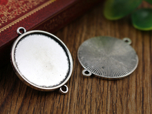 Buy New Fashion 10pcs 25mm Inner Size Antique Silver Classic Simple Style Cabochon Base Setting Charms Pendant (A6-22) for $1.38 in AliExpress store
