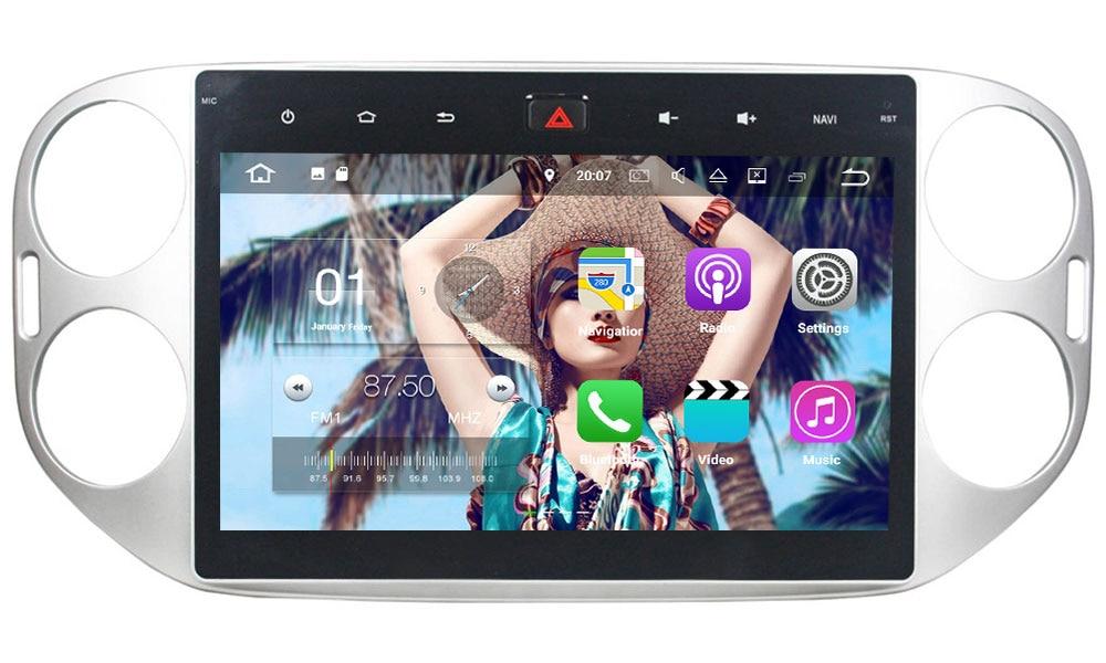 "Android 7.1.2 Quad Core 2GB RAM 16GB ROM 10.1"" HD Car Radio Auto Audio Stereo 12V Support FM for Volkswagen Tiguan 2013-2015"