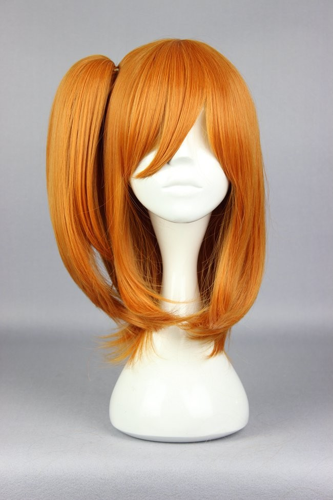 MCOSER Fashion Synthetic Love Live!  Honoka Kosaka 48cm Orange Curly Heat Resistant Lolita Party Cosplay Wig<br><br>Aliexpress