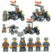 3 in 1 German Army Waffen SS Military World War 2 Soldier SWAT Weapon Gun Police Building Blocks Figures Boy Toy Gift Children