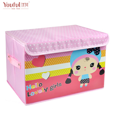 Free shipping Storage box bronzier cartoon oxford fabric storage box Large clothing finishing box