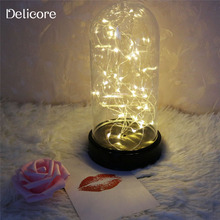 DELICORE Firework String Night Lights Battery Operated Table Lamp LED Fairy Lights for Christmas Wedding decoration S086-WH