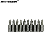 AUTOTOOLHOME 10PC 25mm Electric Screwdriver Bit Set PH1 PH2 PH3 PZ1 PZ2 PZ3 Hex Magnetic Anti Slip Phillips Screwdrivers Kit(China)