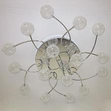 Free Shipping Modern Fixture Lighting Aluminium Wire Crystal Ball LED ceiling light fixture for living room Bedroom Room