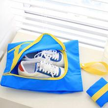 Waterproof Travel Outdoor Folding Home Tote Toiletries Laundry Nylon Shoe Pouch Storage Bag Organizer container