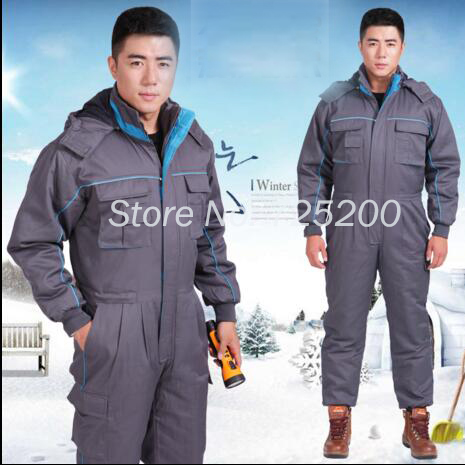 2016 New Winter Thicken Safety Clothing Coverall Jacket Warm Jumpsuit Windproof Factory/4S Car Shop Worker Working Clothes<br><br>Aliexpress