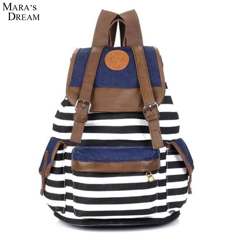 Maras Dream Vintage Unisex Backpack School Bags Printed  Striped Canvas Hasp Casual Student Bag Backpack Satchel For Teenage <br><br>Aliexpress